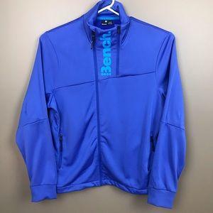 Men's Bench Zip Up Jacket Pockets Fleece Lining